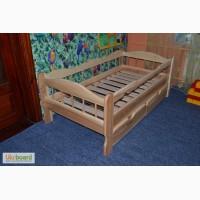 Подростковая кровать из массива ясеня или дуба Зюзюн