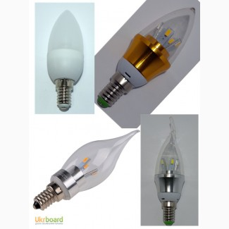 Светодиодная лампа 3W-10W LED цоколь E14 220 вольт