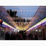 Световая гирлянда бахрома, новогодняя подсветка