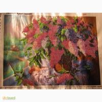 Картина вышита чешским бисером букет цветов