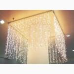 Светодиодная гирлянда дождь занавес, уличная новогодняя штора curtain купить Киев Украина