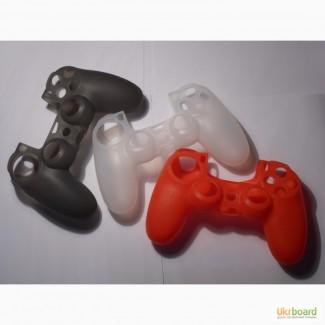 Силиконовый чехол для DualShock 4 PS4 (новый, ассортимент)