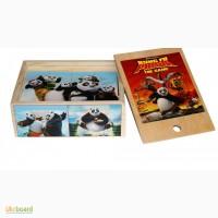 Панда КунгФу деревянные кубики 12шт. Развивающая игрушка из дерева