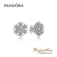 Серьги PANDORA снежинки ― 290589CZ