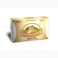 Масло сладкосливочное крестьянское Попельнянское 72, 7% брикет 0, 2 кг
