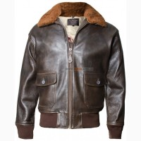 Шкіряна куртка Offical Top Gun Military G-1 Jacket (коричнева)