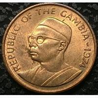 Гамбия 1 бутт 1974 год ОТЛИЧНЫЙ СОХРАН
