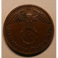 Германия 1 пфенниг 1939 A год СВАСТИКА