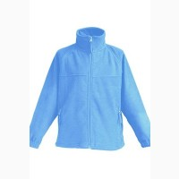 Детская флисовая куртка, голубой цвет
