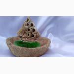 Пепельница-мыльница керамическая Корабль