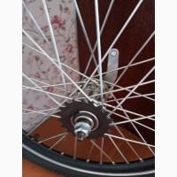 Вело колесо 20 дюймов двойной обод в сборе спица 3мм усиленная