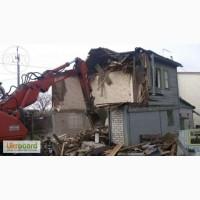 Демонтаж утилизация снос старых домов построек