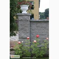 Блоки бетонные гладкие и декоративные(серые)
