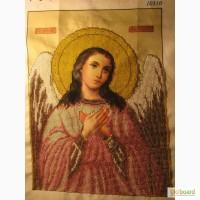 Картина вышита чешским бисером Ангел -охоронець