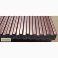 Забор из профнастила цвет шоколад (коричневый) RAL 8017 цена