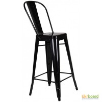 Высокий барный стул Толикс (Tolix), H76см.с высокой спинкой для бара, кафе, фастфуда Киев
