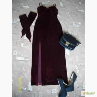 Платье цвета марсала бордовое стильное, в единственном экземпляре. Разм. S