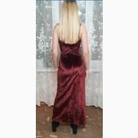 Платье цвета марсала бордовое выпускное, вечернее, в пол в единственном экземпляре. Разм. S