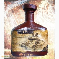 Подарочная бутылка для ценителей игры World of Tanks подарок на день рождения