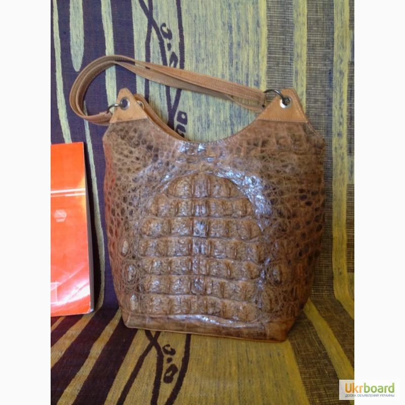 381e2449d896 Продам женскую сумку ручной работы из кожи крокодила, б/у, Киев ...