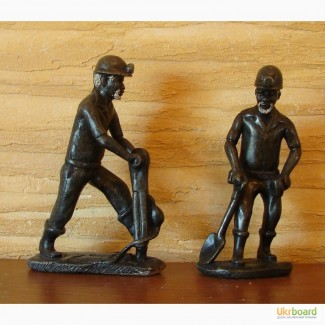 Шахтер. Скульптура статуэтка из камня. Привезены из США