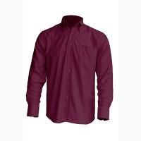 Рубашка мужская с длинным рукавом JHK SHRA POP LS, бордовая