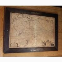 Подарок Директору в кабинет - Генеральная карта Украины 1648г