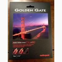 Межкомпонентный аудиокабель AudioQuest Golden Gate 2RCA-2RCA, 1 метр