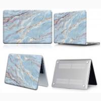 Чехол мраморный Blue Mramor для MacBook Air 13A1932/A2179/A2337/Pro A2289 2020 13.3