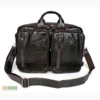 Продается вместительная мужская кожаная сумка, трансформер 5 в 1
