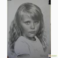 Портрет, нарисовать, на заказ, по фото, недорого, карандаш, Украина