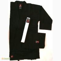 Кимоно карате,рукопашный бой, черное, хлопок