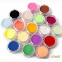 Акриловая цветная пудра комплект - 18 цветов для дизайна ногтей