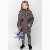 Стильное демисезонное пальто для девочки vpd-3 122-140 р