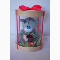 Подарочный набор Мишка с цветами