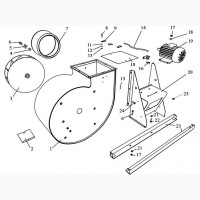 Робочее колесо вентилятора (ЗВС 20 А)