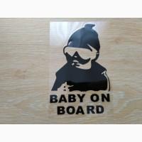 Наклейка на авто Ребенок в машинеBaby on board Черная