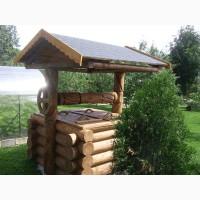 Деревянный колодец Люкс