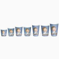 Стакан. ЙОГА( Гапчинская 50уп.(110 мл, 175 мл, 250 мл, 340 мл, 400мл, 500 мл. ) синий