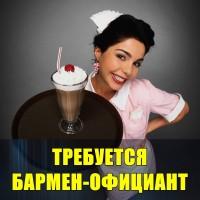Требуется Бармен-официант девушка