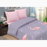 Фламинго - модное постельное белье из поплина (100% хлопок)