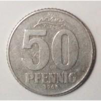 Монета.Страна Германская Демократическая Республика, 50 пфенниг 1968