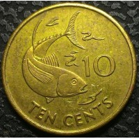 Сейшелы 10 центов 1997 год
