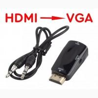Переходник HDMI -gt; VGA со звуком и без, эмулятор монитора