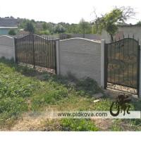 Кованые распашные ворота с калиткой, ворота ковка