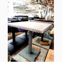 Столы б/у (столешница – верзалит под мрамор, нога – металл)