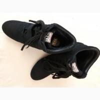 Ботинки новые женские черные ASN размер 40 натуральная замша
