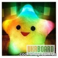 Светящая LED подушка-звезда, светящаяся подушка Звезда UFT Star Light, подарок