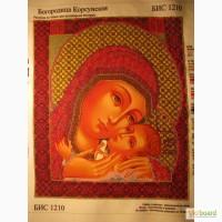 Картина вышита ческим бисером Богородиця Корсуньська