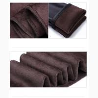 Утепленные кожаные лосины (леггинсы)